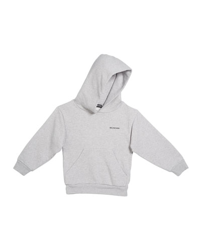 Logo Cotton Hoodie, Size 2-10