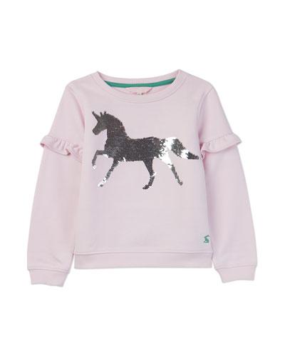 Tiana Flip Sequin Unicorn Sweatshirt, Size 3-12