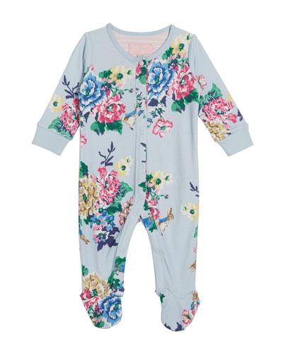 Razzmatazz Floral Print Footie Pajamas, Size 0-12 Months