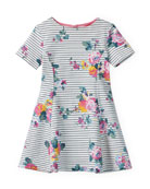 Joules Erin Floral-Print Short-Sleeve Dress, Size 3-12