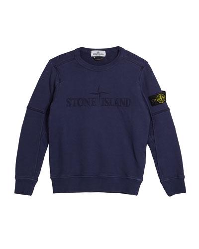 Logo Embroidered Sweatshirt, Size 14