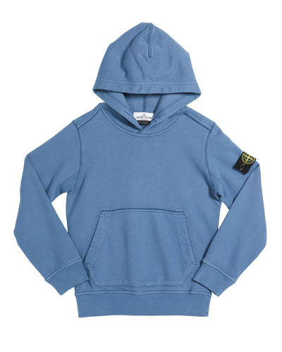 Boy's Cotton Logo Hoodie, Size 8-10