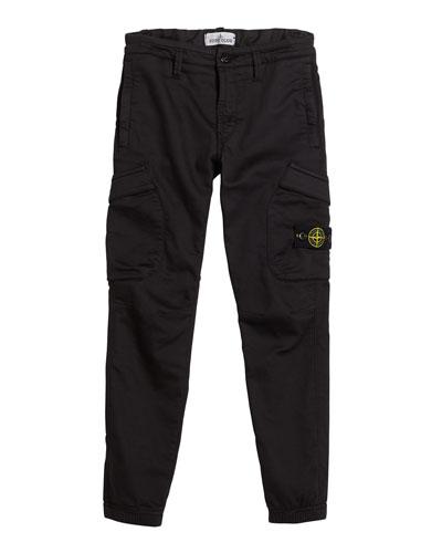 Straight Leg Cargo Pants, Size 8-10