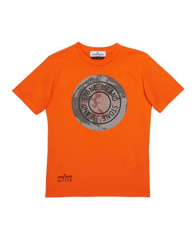 Boys' Moonlanding Screen-Print Logo T-Shirt, Size 14