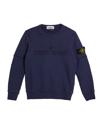 Logo Embroidered Sweatshirt, Size 8-10
