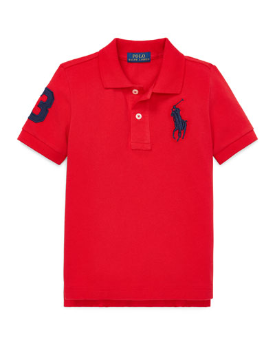 Big Pony Mesh Knit Polo, Size 2-3