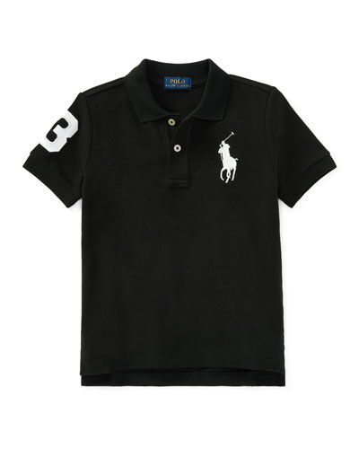 Big Pony Mesh Knit Polo, Size 4-7