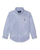 Ralph Lauren Childrenswear Poplin Woven Tattersall Sport Shirt