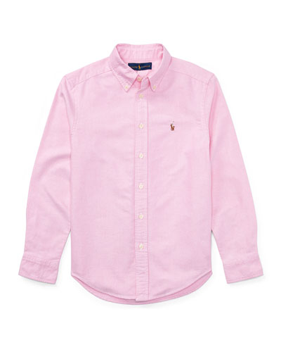 Cotton Oxford Sport Shirt, Size S-XL