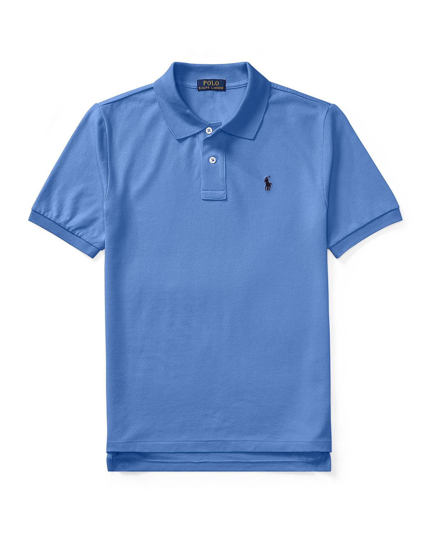 Ralph Lauren Childrenswear Kids' Short-sleeve Logo Embroidery Polo Shirt In Blue