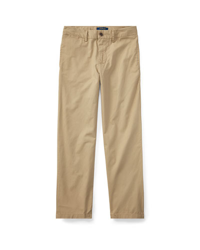 Chino Flat Front Straight Leg Pants, Size 8-14