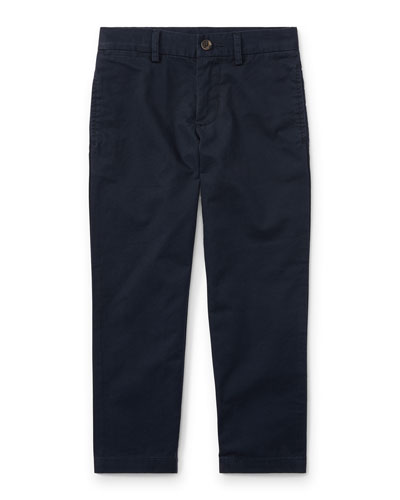 Chino Flat Front Straight Leg Pants, Size 2-3