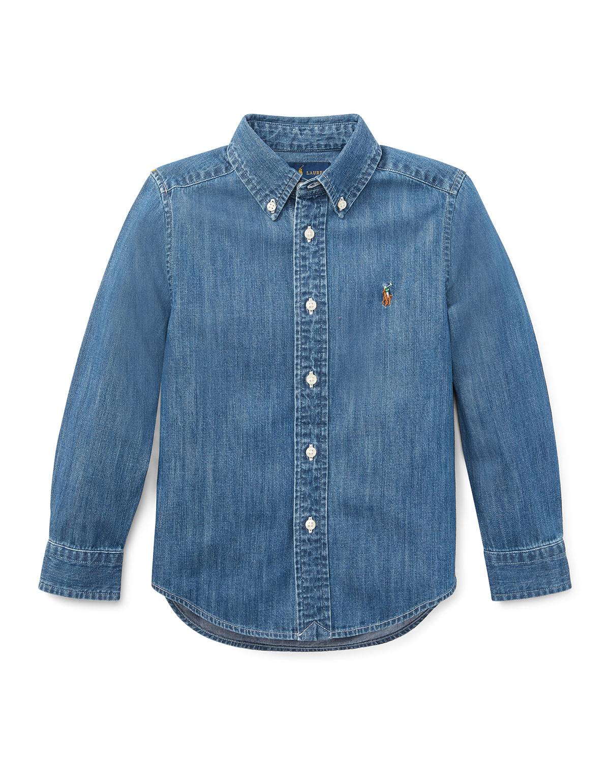 Ralph Lauren Childrenswear Kids' Woven Chambray Shirt In Dark Blue