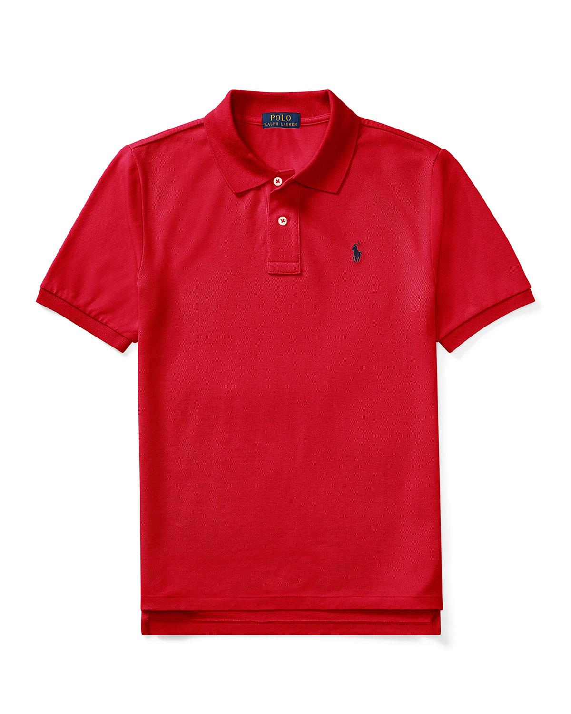 Ralph Lauren Childrenswear Kids' Short-sleeve Logo Embroidery Polo Shirt In Red