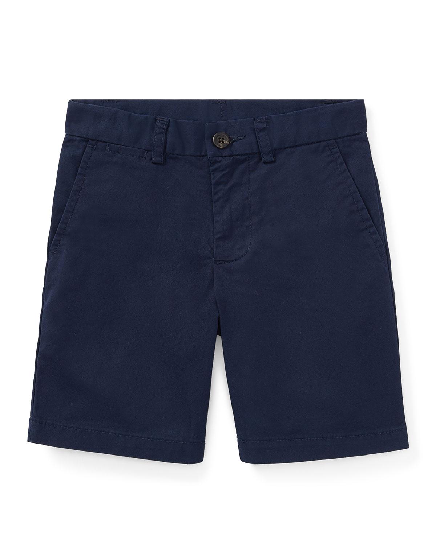 Ralph Lauren Childrenswear Kids' Flat Front Chino Shorts In Navy