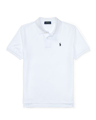 Short-Sleeve Logo Embroidery Polo Shirt, Size S-XL