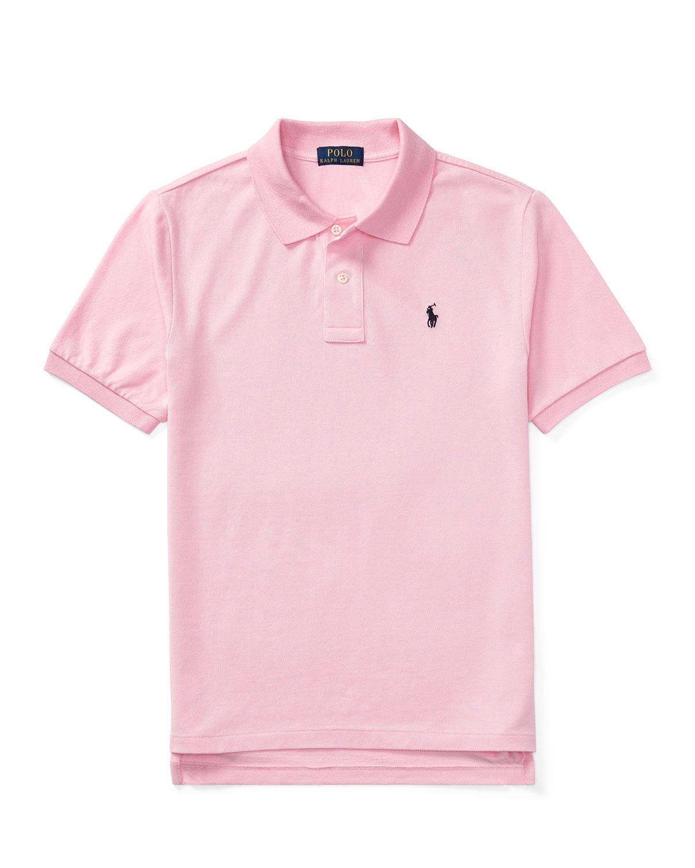 Ralph Lauren Childrenswear Short-sleeve Logo Embroidery Polo Shirt In Pink