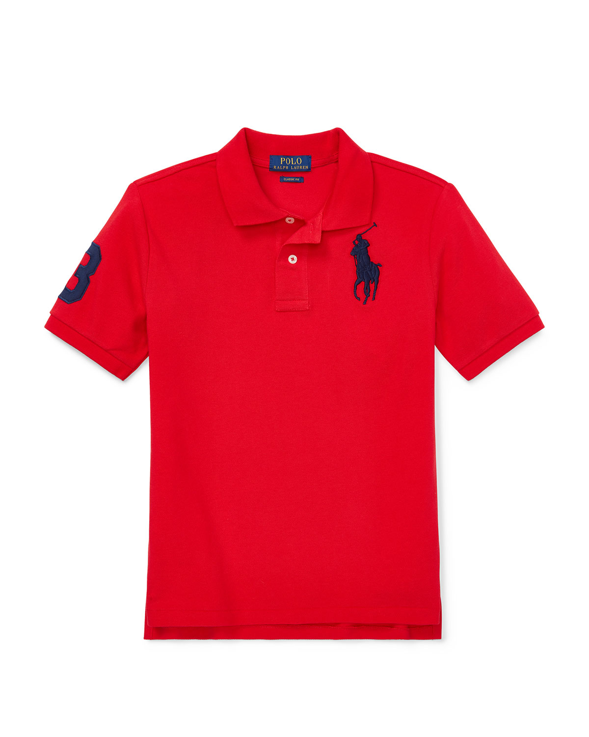 Ralph Lauren Childrenswear Kids' Big Pony Mesh Knit Polo In Red