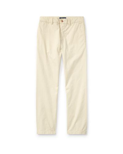 Chino Flat Front Straight Leg Pants, Size 8-14