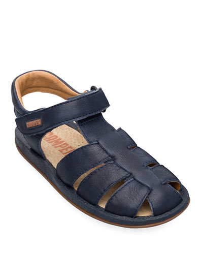 Kid's Leather Caged Sandals, Toddler/Kids