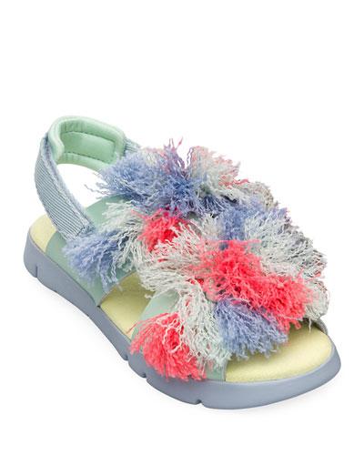 Kid's Open Toe Fringe Sandals, Toddler/Kids