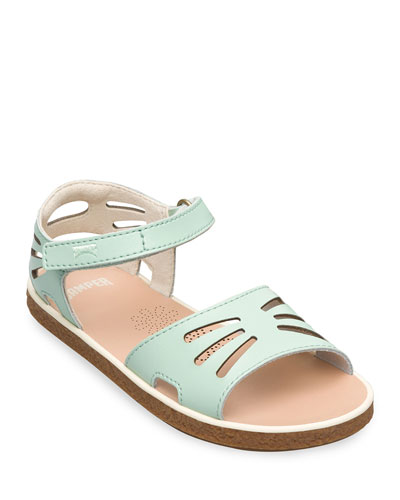 Kid's Leather Cutout Sandals, Toddler/Kids