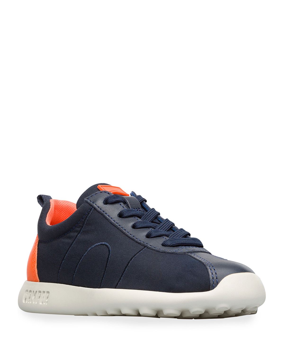 Kid's Leather Trim Sneakers