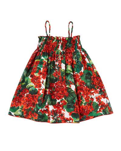 Cotton Smocked Dress   Neiman Marcus