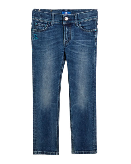 Stefano Ricci Kids' Denim Sport Trousers, Size 6-12