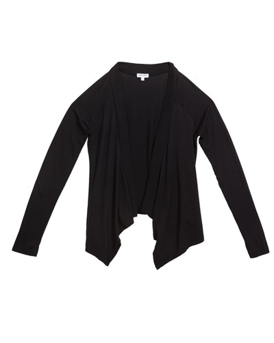 Girl's Jersey Wrap Cardigan, Size 7-14