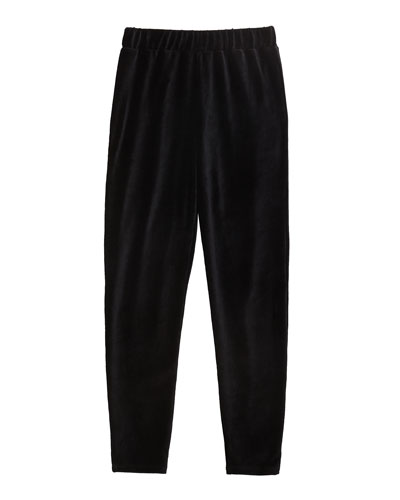 Girl's Velour Jogger Pants, Size 7-14