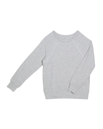 Soft French Terry Sweater, Size 7-14