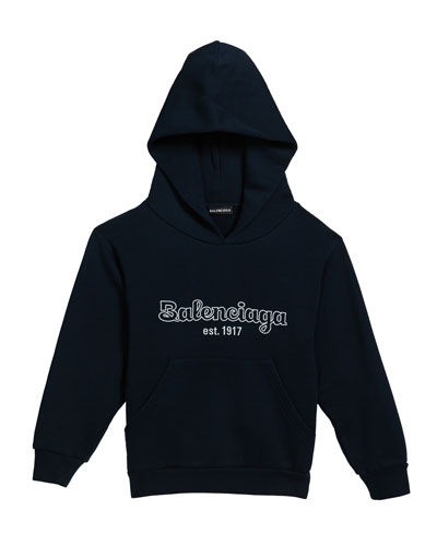 Boy's Logo Embroidered Hoodie, Size 2-10