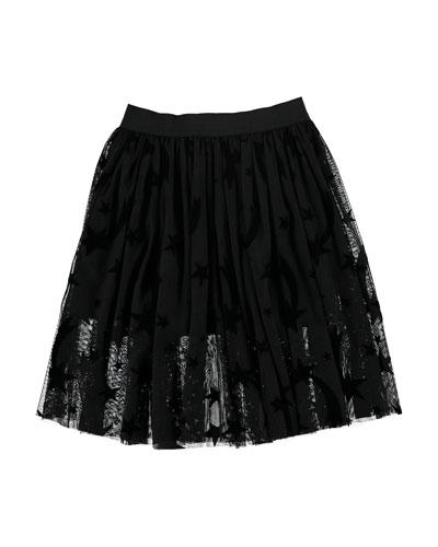 Girl's Stars Tulle Skirt, Size 4-14