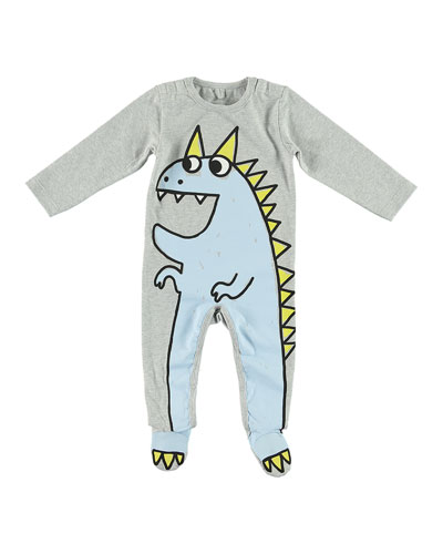 Dragon Cartoon Graphic Footie Pajamas, Size 3-9 Months