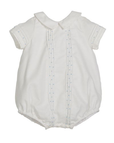 Swiss Dot Pintucked Romper, Size Newborn-9 Months