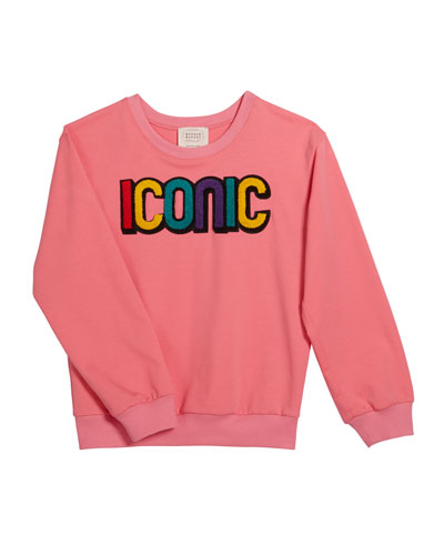 Girl's Iconic Sweatshirt, Size 7-16