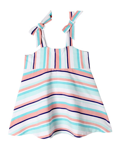 Kenna Striped Tie Straps Cami, Size 2-10