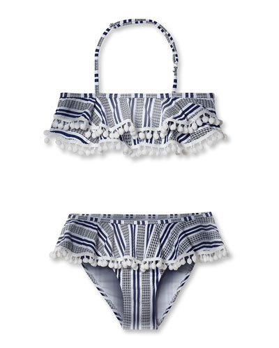 149ae9c9a0 Quick Look. Stella Cove · Striped Bikini With Pompom ...