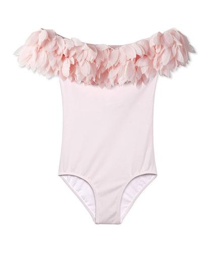 Girls' Petal One-Piece Swimsuit, 12M-8