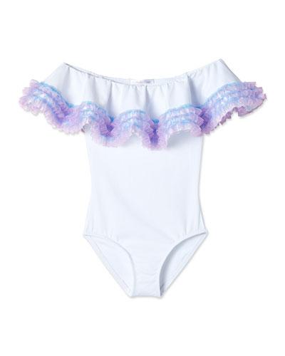 09286e68ba Imported Ruffle Trim Swimsuit | Neiman Marcus