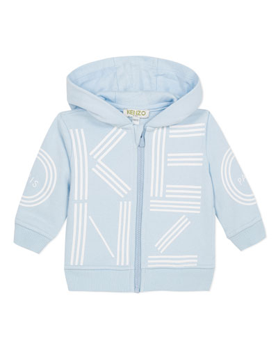 Oversized Logo Print Hooded Jacket, Size 6-18 Months