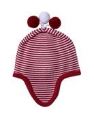 Kissy Kissy Red Reindeer Knit Baby Hat