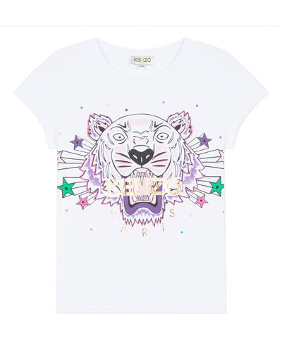 Tiger & Stars Graphic Short-Sleeve Tee, Size 2-6