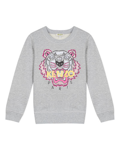 Signature Tiger Sweatshirt, Size 2-6