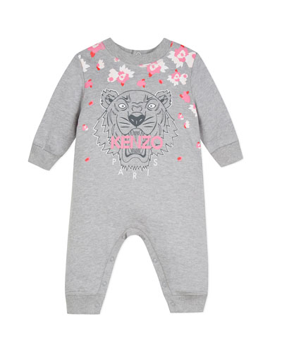 Tiger & Flower Graphic Coverall, Size 6-18 Months