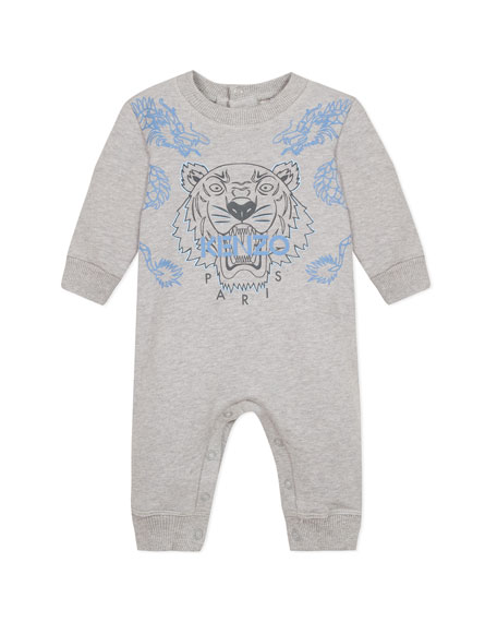Kenzo Dragon & Tiger Graphic Coverall, Size 6-18 Months