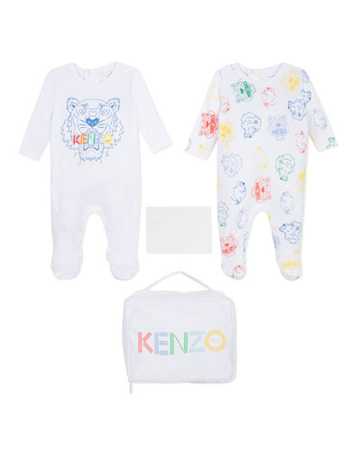 2-Piece Logo Footie Pajamas Set w/ Carrying Pouch, Size 1-6 Months