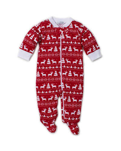 Christmas Deer Pima Footie Playsuit, Size 0-9 Months