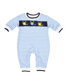 Florence Eiseman Stripe Knit Helicopter Embroidered Coverall,